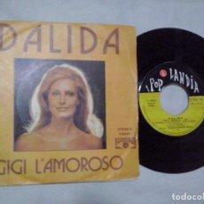 Discos de vinilo: MUSICA SINGLE: DALIDA - GIGI L´AMOROSO / TENÍA DIECIOCHO AÑOS (ABLN). Lote 103793671