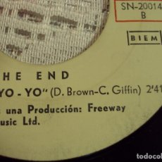 Discos de vinilo: THE END - YO YO / WHY - SG SONOPLAY ESPAÑA 1967. Lote 103805139