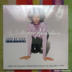 Discos de vinilo: WHITNEY HOUSTON (STEP BY STEP - REMIXES) MAXI-XINGLE 1996 ALBUM THE PREACHER'S WIFE * PRECINTADO. Lote 103805555