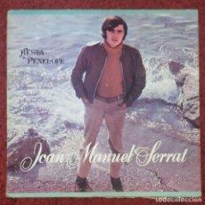 Discos de vinilo: JOAN MANUEL SERRAT (FIESTA - PENELOPE) LP 1972 USA - P-LPS 1084 - VG+ G+. Lote 103806407