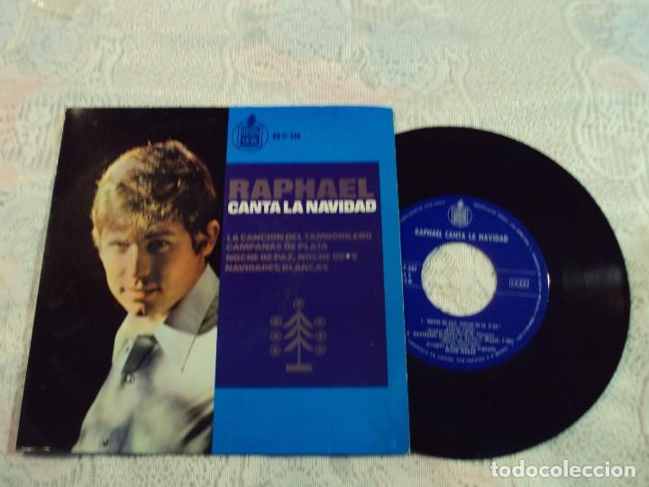 RAPHAEL. CANTA LA NAVIDAD. LA CANCION DEL TAMBORILERO,CAMPANAS DE PLATA,NOCHE DE PAZ,NOCHE 1965 (Música - Discos de Vinilo - Maxi Singles - Flamenco, Canción española y Cuplé)