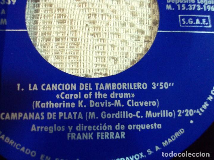 Discos de vinilo: RAPHAEL. CANTA LA NAVIDAD. LA CANCION DEL TAMBORILERO,CAMPANAS DE PLATA,NOCHE DE PAZ,NOCHE 1965 - Foto 3 - 103806943