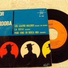 Discos de vinilo: FLOR DE CORDOBA, LOS CUATRO MULEROS DEL 1964. Lote 103807667