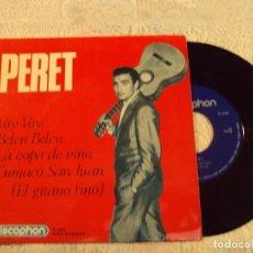 Discos de vinilo: PERET - LA COPA DE VINO, CUMACO SAN JUAN, BELEN, BELEN, VOY VOY - DISCOPHON 1965. Lote 103807763