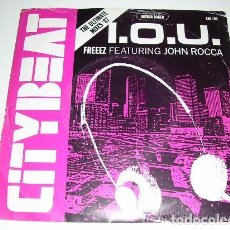 Discos de vinilo: I.O.U. FREEEZ FEATURIN JOHN ROCCA. Lote 103807771