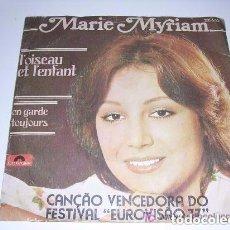 Discos de vinilo: MARIE MYRIAM L'OISEAU ET L'ENFANT GANADORA DE EUROVISIÓN 1977. Lote 103808003