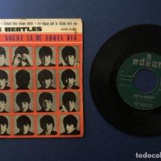 Discos de vinilo: THE BEATLES. QUE NOCHE LA DE AQUEL DIA. Lote 103816291