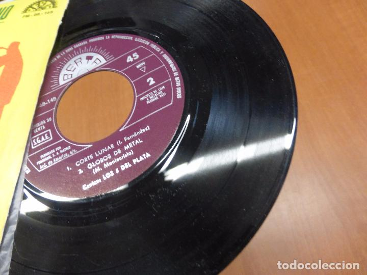 Discos de vinilo: LOS 5 DEL PLATA - DISCOTECA PENTAGONO - BERTA - Corte Lunar / Globos de metal - - Foto 2 - 103820315