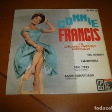 Discos de vinilo: EP : CONNIE FRANCIS : OH SUSANA + 3 RARO SPAIN 1962 . Lote 103822395
