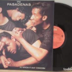 Discos de vinilo: LP	TO WHOM IT MAY CONCERN - THE PASADENAS LP	CBS	1988. Lote 103831419