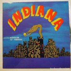 Discos de vinilo: INDIANA (INCLUYE HITOUSE ,12 VERSION) - LP SPAIN 1989 (ACID HOUSE). Lote 103831603