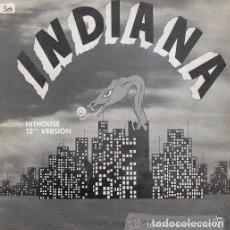 Discos de vinilo: INDIANA - MEGAMIX VERSIÓN (INCLUYED HITHOUSE) SINGLE 1989. Lote 103831839