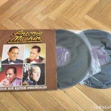 Discos de vinilo: DISCO VINILO ANTONIO MACHIN TODOS SUS EXITOS INMORTALES ALBUM DOBLE 2 LPS DISCOPHON 1981. Lote 103837723