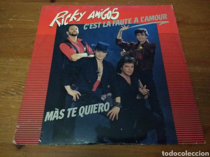 RICKY AMIGOS - C'EST LA FAUTE A L'AMOUR - (Música - Discos de Vinilo - Singles - Pop - Rock Internacional de los 80)