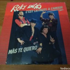 Discos de vinilo: RICKY AMIGOS - C'EST LA FAUTE A L'AMOUR -. Lote 103844542