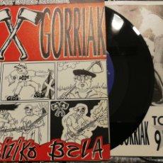 Discos de vinilo: NEGU GORRIAK LAHENBIZIKO BALA - BISITARI IRAULTZAILEA SG INCLUYE ENCARTE. Lote 103847220