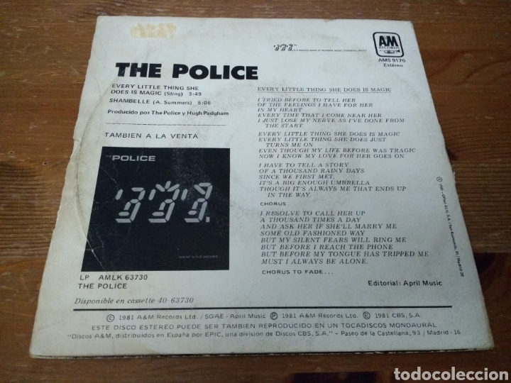 Discos de vinilo: The Police - Todo lo que hace es mágico - - Foto 2 - 103850402