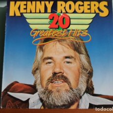 Discos de vinilo: KENNY ROGERS - 20 GREATEST HITS - LP AÑO ???? - MADE IN HOLLAND. Lote 103854207