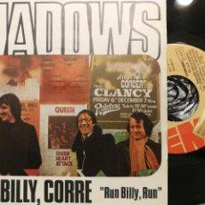 Discos de vinilo: THE SHADOWS SG CORRE BILLY, CORRE (PROMO). Lote 103857242
