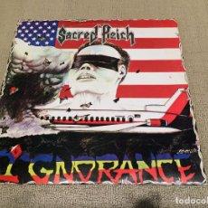 Discos de vinilo: SACRED REICH -IGNORANCE- (1989) LP DISCO VINILO. Lote 103860563