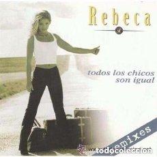 Discos de vinilo: REBECA – TODOS LOS CHICOS SON IGUAL (REMIXES) MAXI-SINGLE SPAIN 1997. Lote 103860987