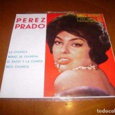 Discos de vinilo: EP : PEREZ PRADO : LA CHUNGA + 3 EX. Lote 103872359