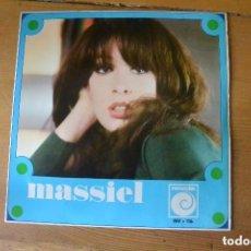 Discos de vinilo: DISCO SINGLE MASSIEL PRESENTACION PROMOCIONAL RARO.ABRIL 1966. Lote 103875507