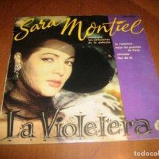 Discos de vinilo: EP : SARA MONTIEL : LA VIOLETERA + 3 EX. Lote 103875971