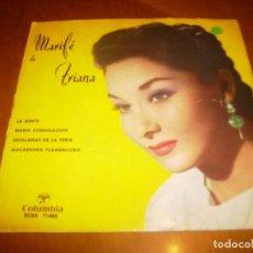 Discos de vinilo: EP : MARIFE DE TRIANA : LA GENTE + 3 EX. Lote 103876587