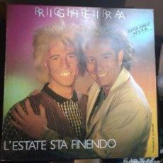 Discos de vinilo: RIGHEIRA – L'ESTATE STA FINENDO. Lote 103883675