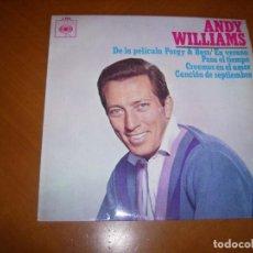 Discos de vinilo: EP : ANDY WILLIAMS : EN VERADO + 3 ED SPAIN 1964 EX. Lote 103884155