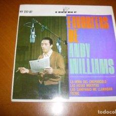 Discos de vinilo: EP : ANDY WILLIAMS : LA HORA DEL CREPUSCULO + 3 ED SPAIN BUEN ESTADO. Lote 103884231