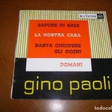 Discos de vinilo: EP : GI : SAPORE DI SALE + 3 ED FRANCIA EX. Lote 103884887