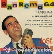 Discos de vinilo: JOSE GUARDIOLA - FESTIVAL DE SAN REMO 64 . NO TIENE EDAD - EP VERGARA 1964. Lote 103890067