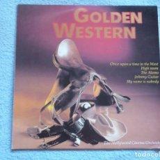 Disques de vinyle: THE HOLLYWOOD CINEMA ORCHESTRA,GOLDEN WESTERN EDICION ALEMANA. Lote 103907403