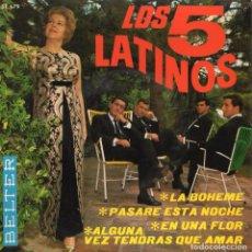 Discos de vinilo: 5 LATINOS, LOS. EP, LA BOHEME + 3, AÑO 1966. Lote 103907451