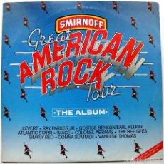 Discos de vinilo: VARIOS (THE BEE GEES / SIMPLY RED ...) - SMIRNOFF GREAT AMERICAN ROCK TOUR - LP TUSK MUSIC 1988 BPY. Lote 103912183
