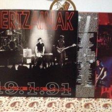 Discos de vinilo: HERTZAINAK - ZUZENEAN 19,1.91 DOBLE LP NUEVOS A ESTRENAR. Lote 103918471