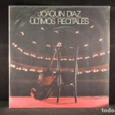Discos de vinilo: JOAQUIN DIAZ - ULTIMOS RECITALES - LP. Lote 103918539