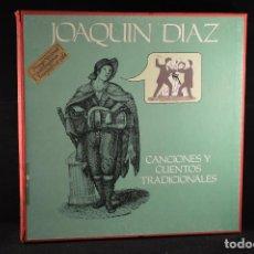 Discos de vinilo: JOAQUIN DIAZ - CANCIONES Y CUENTOS TRADICIONALES - 5 LP + LIBRETO. Lote 103919827