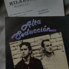 Discos de vinilo: ALTA SEDUCCION - NOCHE DE CALOR. PROMO SG 1990. Lote 103937231