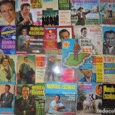 Discos de vinilo: MANOLO ESCOBAR COLECCION DE 21 EP'S VIVA ESPAÑA Y SINGLES -. Lote 103952743