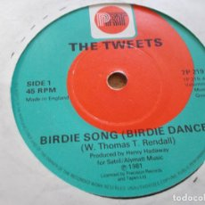 Discos de vinilo: THE TWEETS. BIRDIE SONG . MELLOW TERRAIN.. Lote 103963691