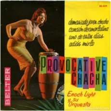 Discos de vinilo: ENOCH LIGHT Y SU ORQUESTA – PROVOCATIVE CHA CHA - EP SPAIN 1961 - BELTER 50.459. Lote 103973687