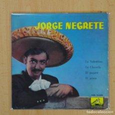 Discos de vinilo: JORGE NEGRETE - LA VALENTINA + 3 - EP. Lote 103974052