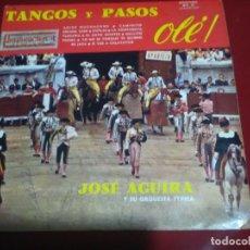 Discos de vinilo: TANGOS Y PASOS DIRIGIDA LA ORQUESTA POR JOSÉ AGUIRA . Lote 103974539