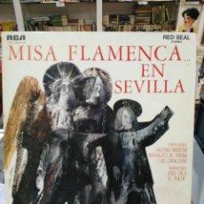 Discos de vinilo: MISA FLAMENCA EN SEVILLA - ANTONIO MAIRENA, LUIS CABALLERO, NARANJITO DE TRIANA, ... LP. RCA 1968. Lote 103976539