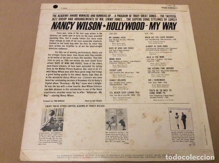 Discos de vinilo: Nancy wilson. Hollywood. My way. Capitol. 1963. Ed francesa. - Foto 2 - 103992187