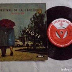 Discos de vinilo: MUSICA SINGLE: 9º FESTIVAL DE LA CANCION PIOVE (ABLN). Lote 103996751