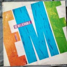 Discos de vinilo: EMF - UNBELIVABLE. MAXI-SINGLE 1990. Lote 104011011